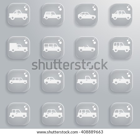 Cars simply  simply symbols for web and user interface - stock vector