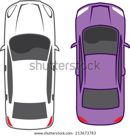 Cars Top View - stock vector
