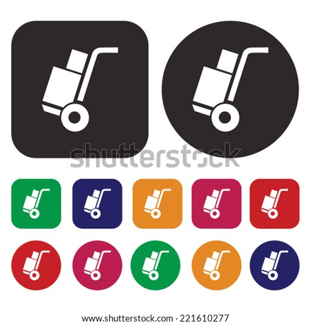 Cart delivery icon . Shipping icon - stock vector