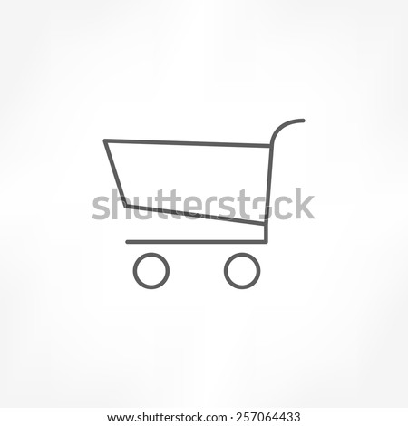 cart icon - stock vector