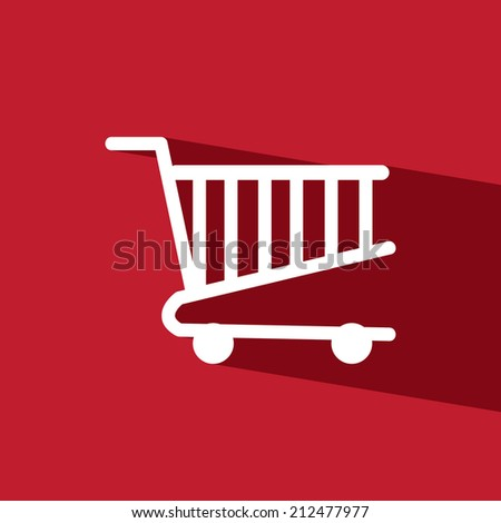 cart mart flat icon  vector illustration eps10  - stock vector