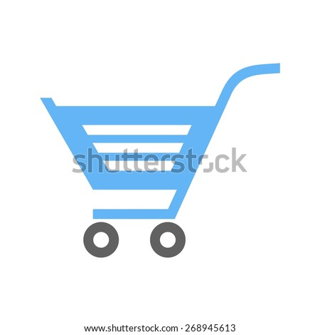 Cart, trolley, carrier, basket icon vector image. Can also be used for eCommerce, shopping, business. Suitable for web apps, mobile apps and print media. - stock vector