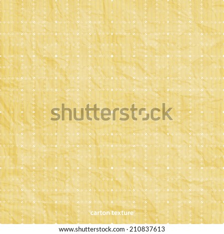 carton background with realistic shabby texture - stock vector