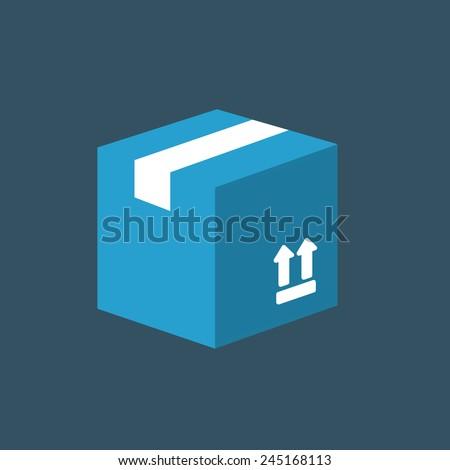 Carton Package Box icon - stock vector