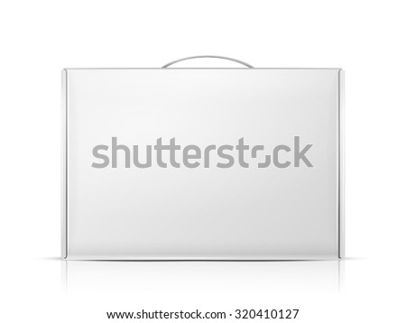 carton package box with handle isolated on white background - stock vector
