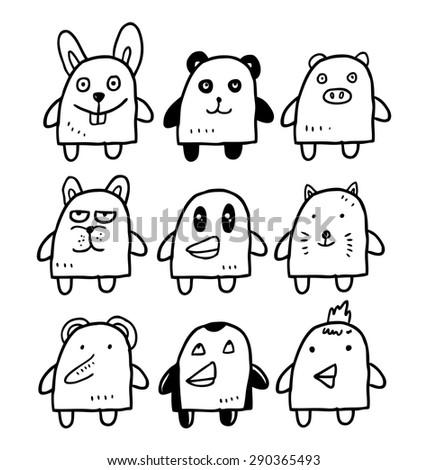 cartoon animal - stock vector