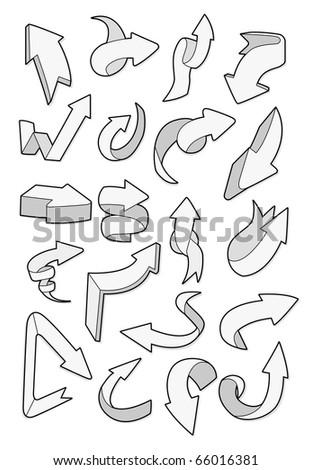 cartoon arrow - stock vector