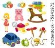 cartoon baby toy icon - stock vector