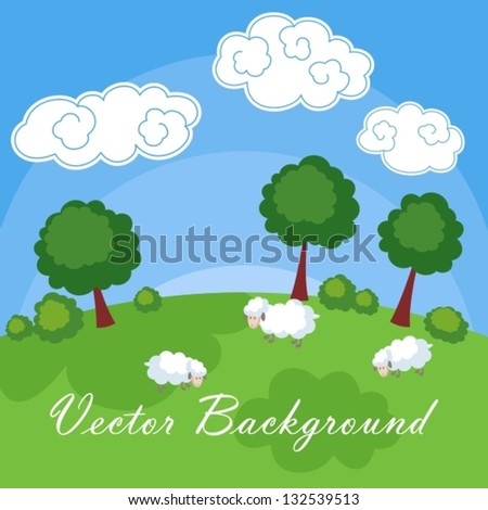 cartoon background - stock vector