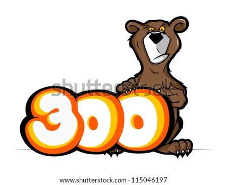 cartoon bear mascot. vector illustration - stock vector