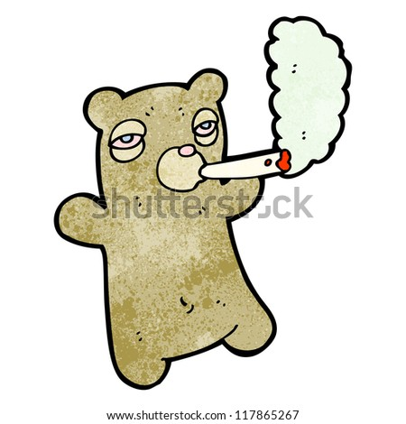 Cartoon Marijuana Smoking Weed