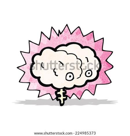 cartoon brain - stock vector