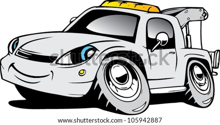 Cartoon car ambulance - stock vector