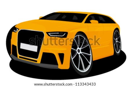 cartoon car vector illustraion - stock vector