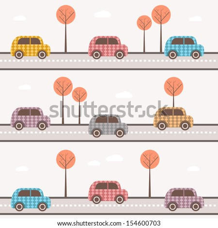 cartoon cars  - stock vector