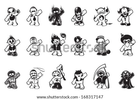 Cartoon characters - stock vector