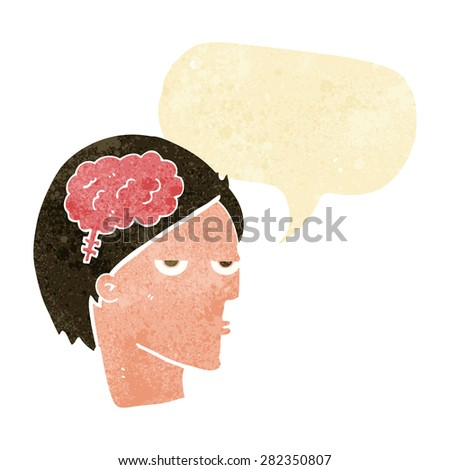cartoon clever person - stock vector