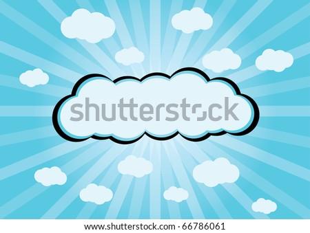 Cartoon clouds - stock vector