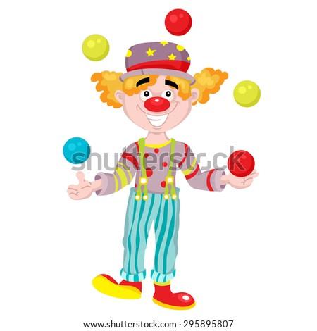 cartoon clown - stock vector