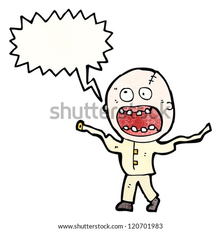 cartoon crazed madman - stock vector