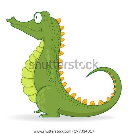 Cartoon crocodile design  - stock vector