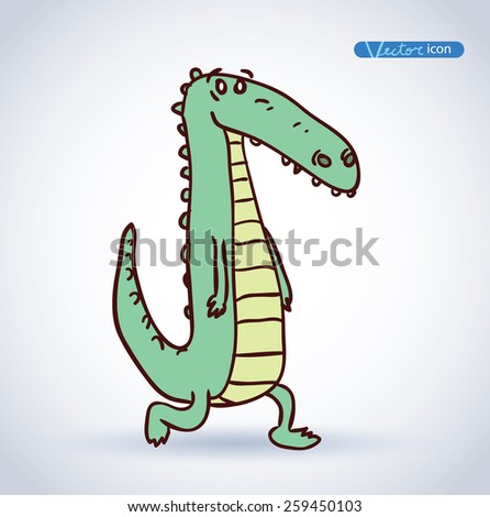 Cartoon crocodile Illustration - stock vector