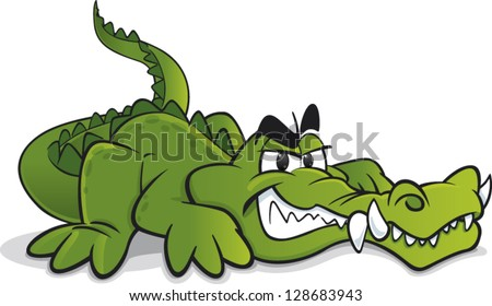 Crocodile cartoon Stock Photos, Images, & Pictures ... - photo#26