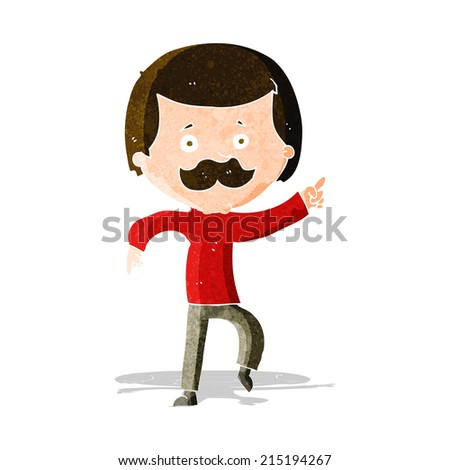 cartoon dancing dad - stock vector