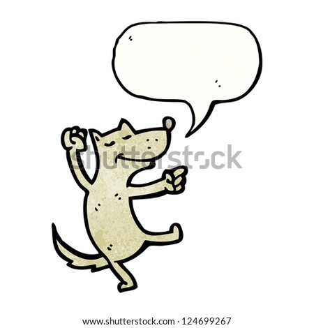 cartoon dancing dog - stock vector