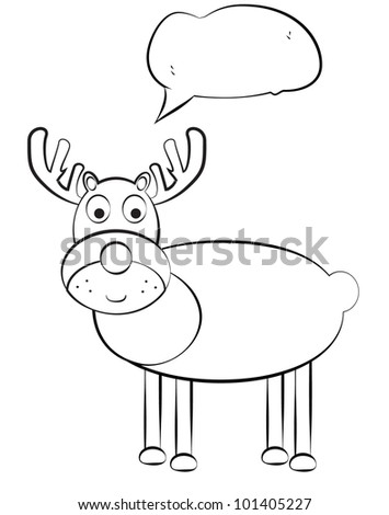 Cartoon deer. Jpg version also available in gallery - stock vector