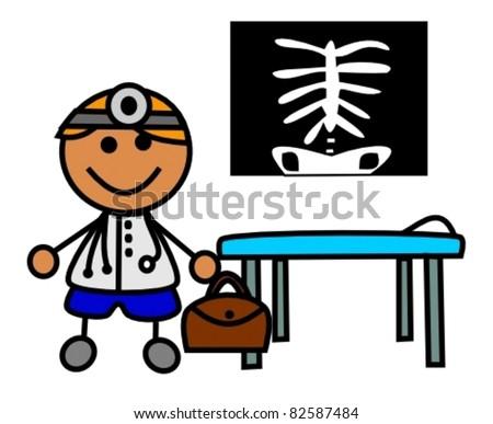 Cartoon Doctor Vector - stock vector