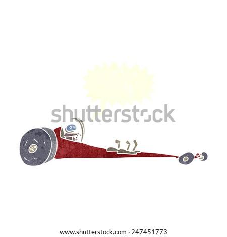 cartoon drag racer - stock vector