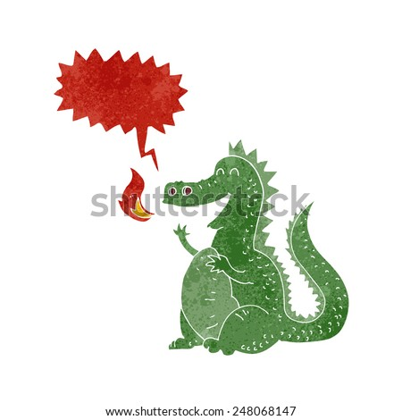 cartoon dragon - stock vector