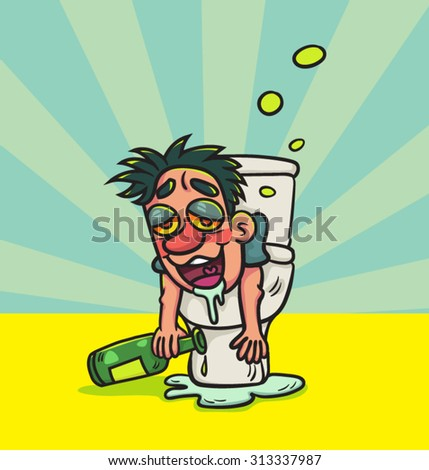 Cartoon Man Sitting On Toilet Hot Girls Wallpaper
