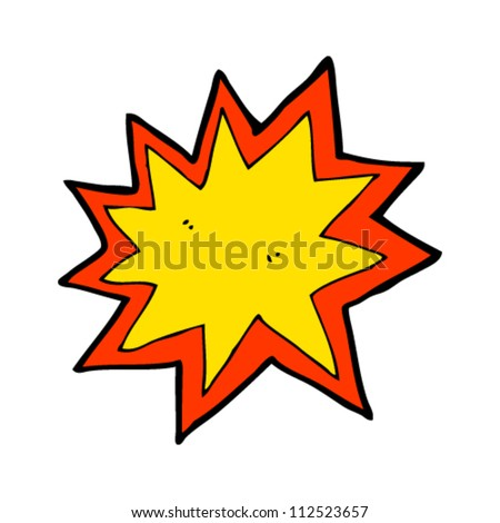 cartoon explosion - stock vector