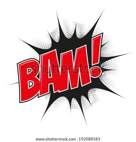 cartoon explosion bam - stock vector