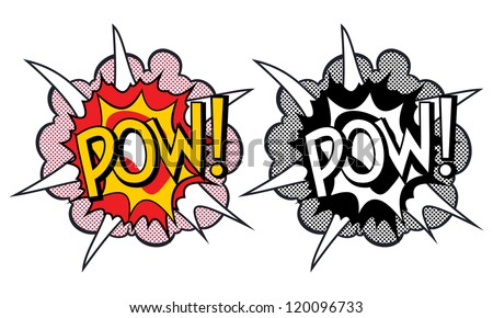 Cartoon explosion pop-art style - stock vector