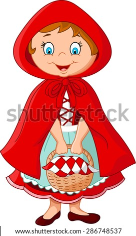 Cartoon fairy princess with robe - stock vector