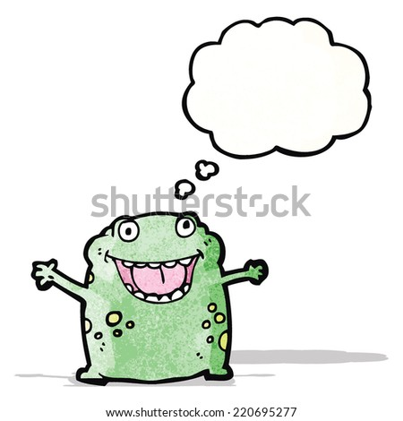 cartoon frog - stock vector