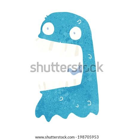 cartoon gross ghost - stock vector
