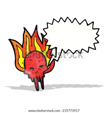 cartoon gross halloween skull - stock vector