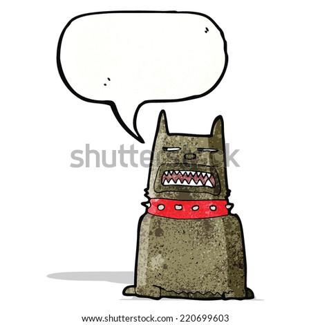 cartoon growling dog - stock vector