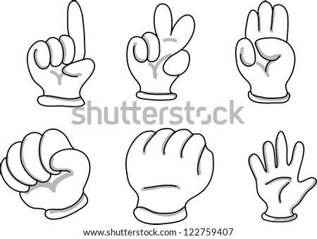 Cartoon Hands - stock vector