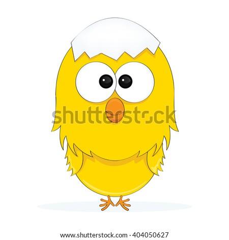 cartoon illustration of a chick - stock vector