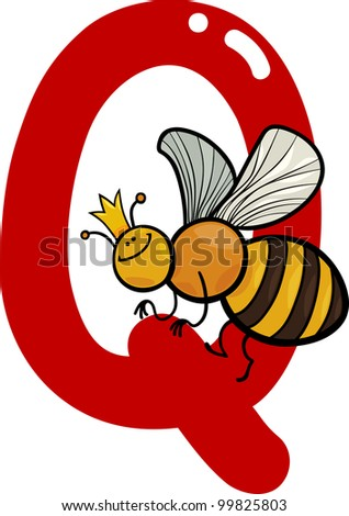 q is for queen  is for queen Stock Photos,