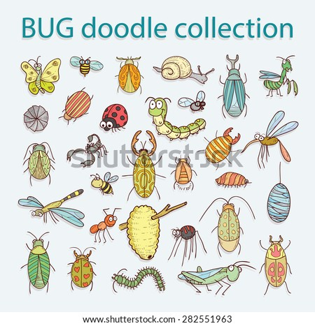 cartoon insect bug icon, vector illustration. - stock vector