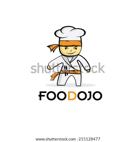 cartoon karate food chef  - stock vector
