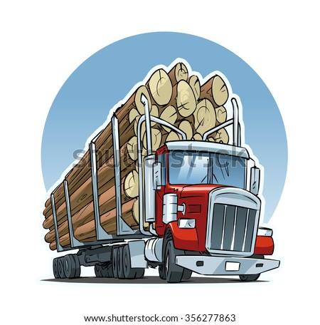 Logging truck clip art