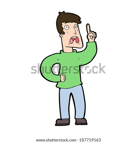 cartoon man with complaint - stock vector