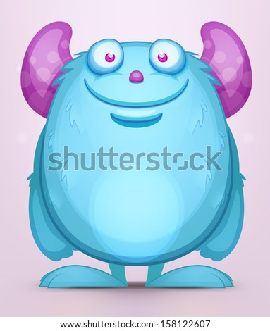 Cartoon Monster - stock vector